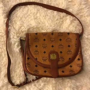 Vintage Authentic MCM Crossbody Purse in Cognac